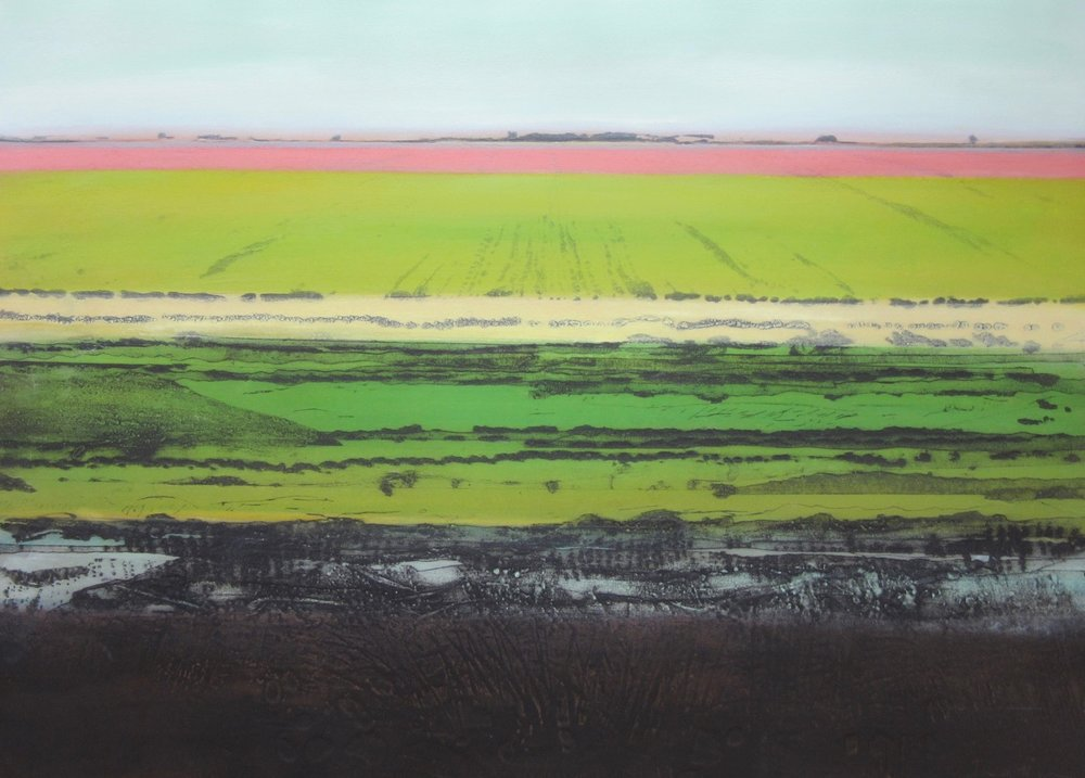 Great North Fen in Winter VI Carborundum and monoprint Sold Prints available in series £425