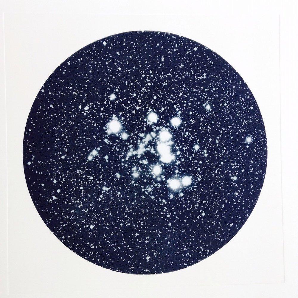 Nova Stella   etching    59  x 59 cm   £550 f ramed