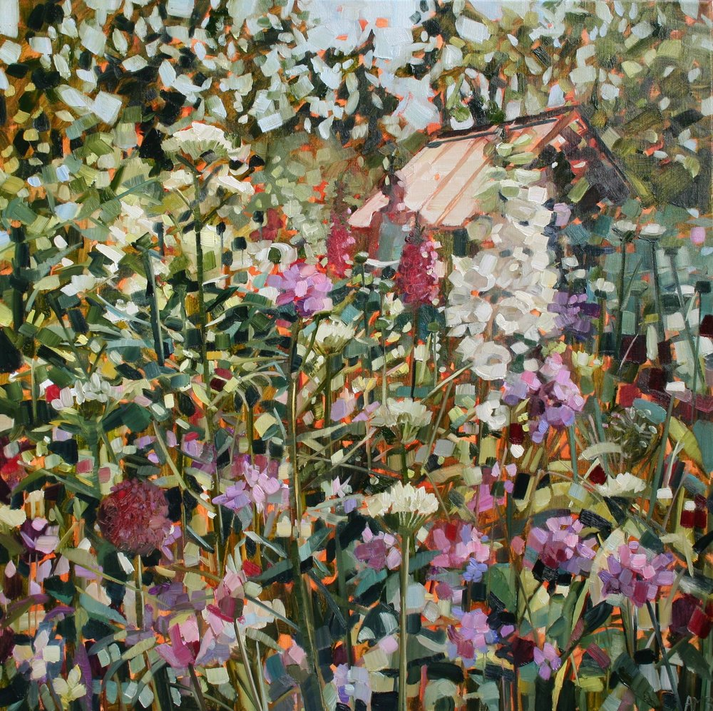 May Garden oil on linen 60 x 60 cm £1,850 framed