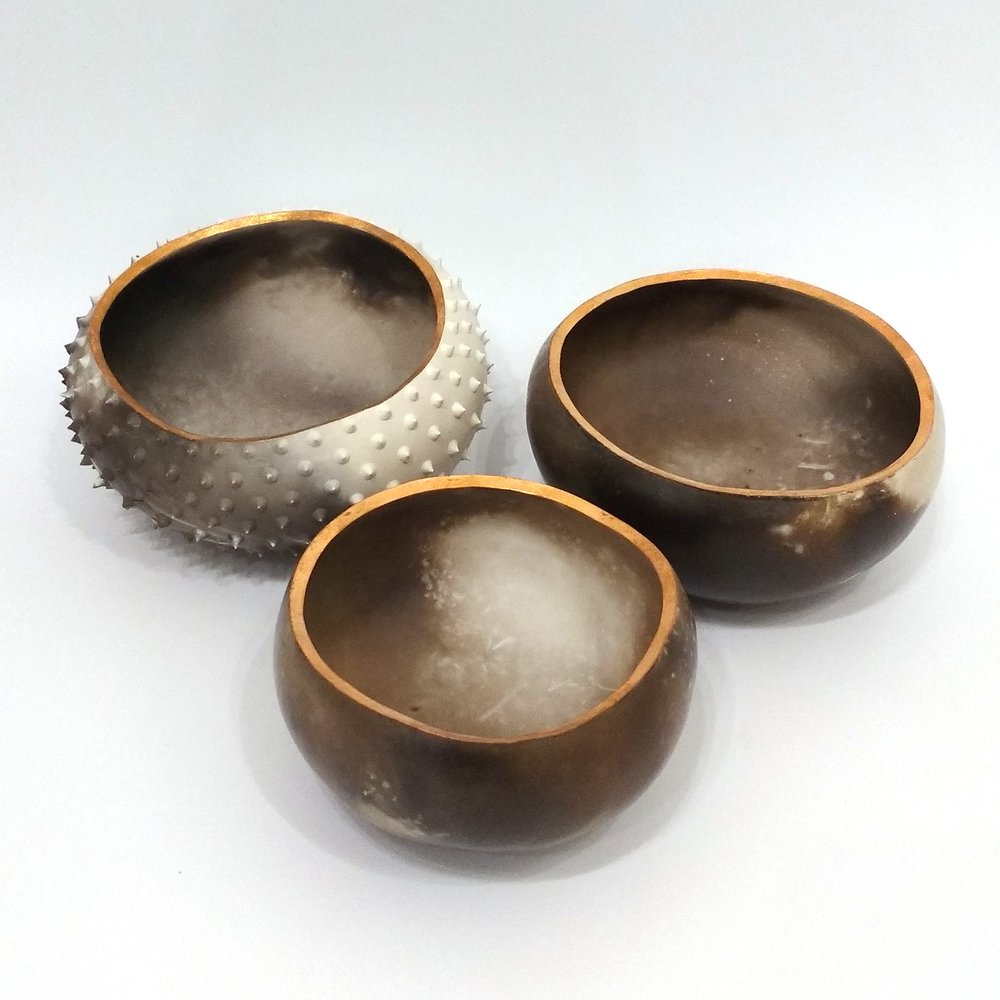 Katie Pruden Medium Spiky Pebble Pot £70 Medium Smooth Pebble Pot £66 Small Smooth Pebble Pot £44