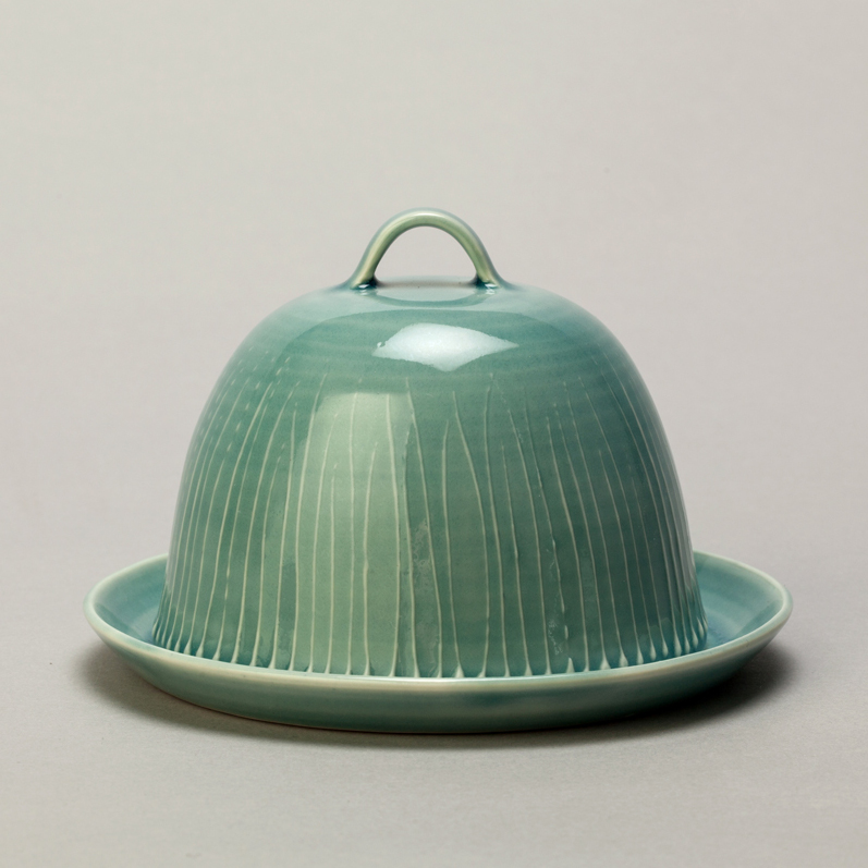 Sarah Went   Green Grass Butter Dish  £50