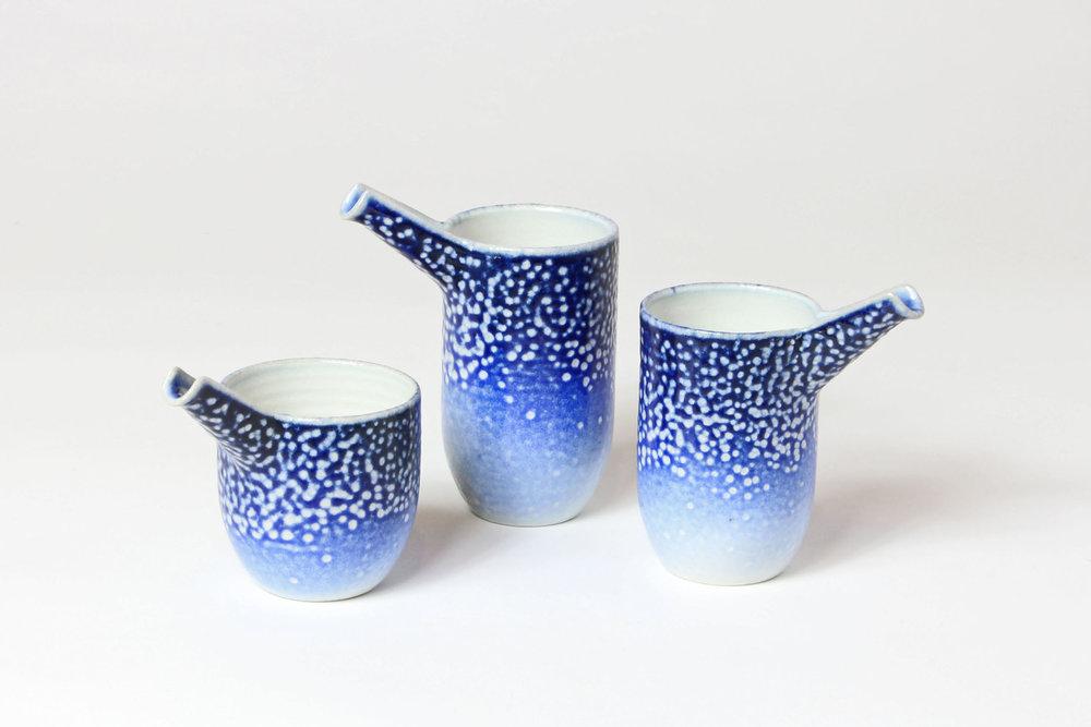 Pourers Saltglazed stoneware H-10cm W-9cm D-6cm £55