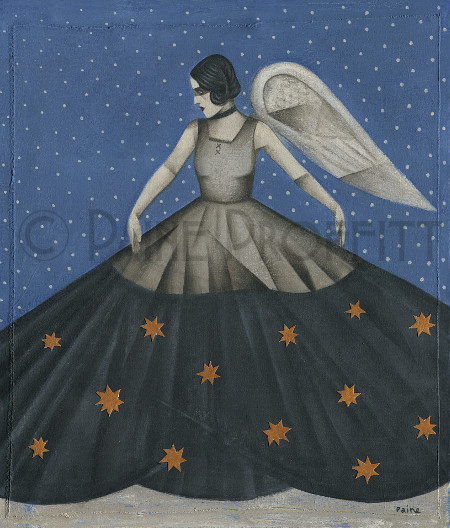 Snowfall and Stars  acrylic  60 x 70cm  sold