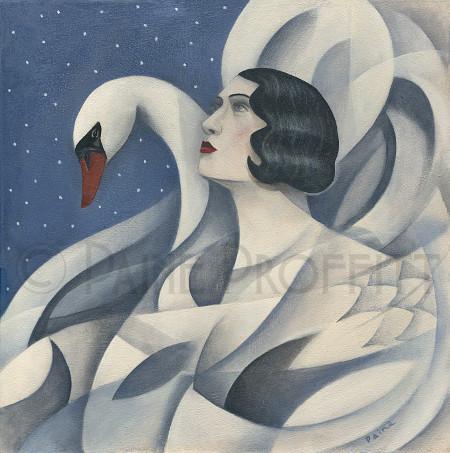 Swan Lake  acrylic  50 x 50cm  sold
