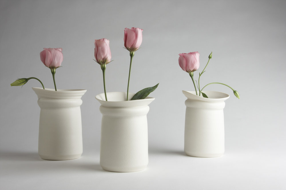 Choker Vases porcelain £85 13cm h x 12cm d