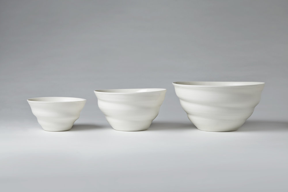 Three Simple Bowls porcelain