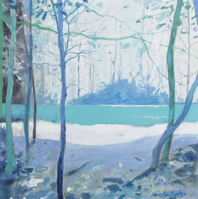 Nicola Cooke Woodland Pool Light mixed media £270