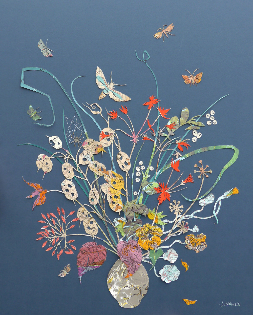 Julia MacKenzie  A Winter Garden   Papercut  £550 framed