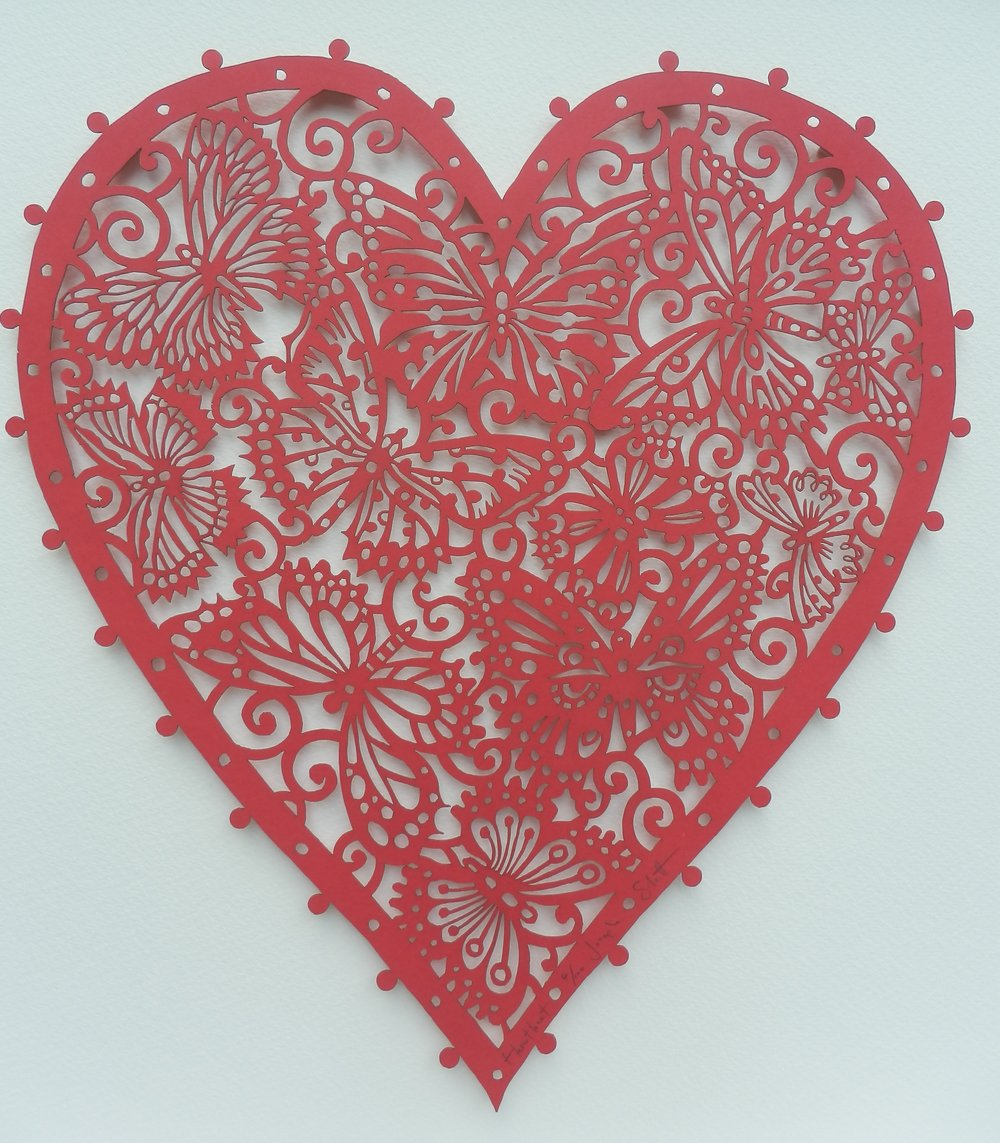 Joseph Silcott Love Heart mixed media £265 framed