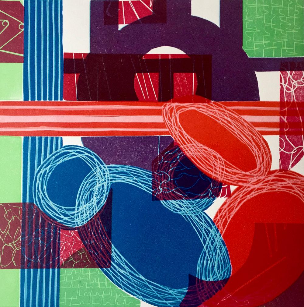 Anomaly V linocut 32cm x 38cm framed £395, unframed£32