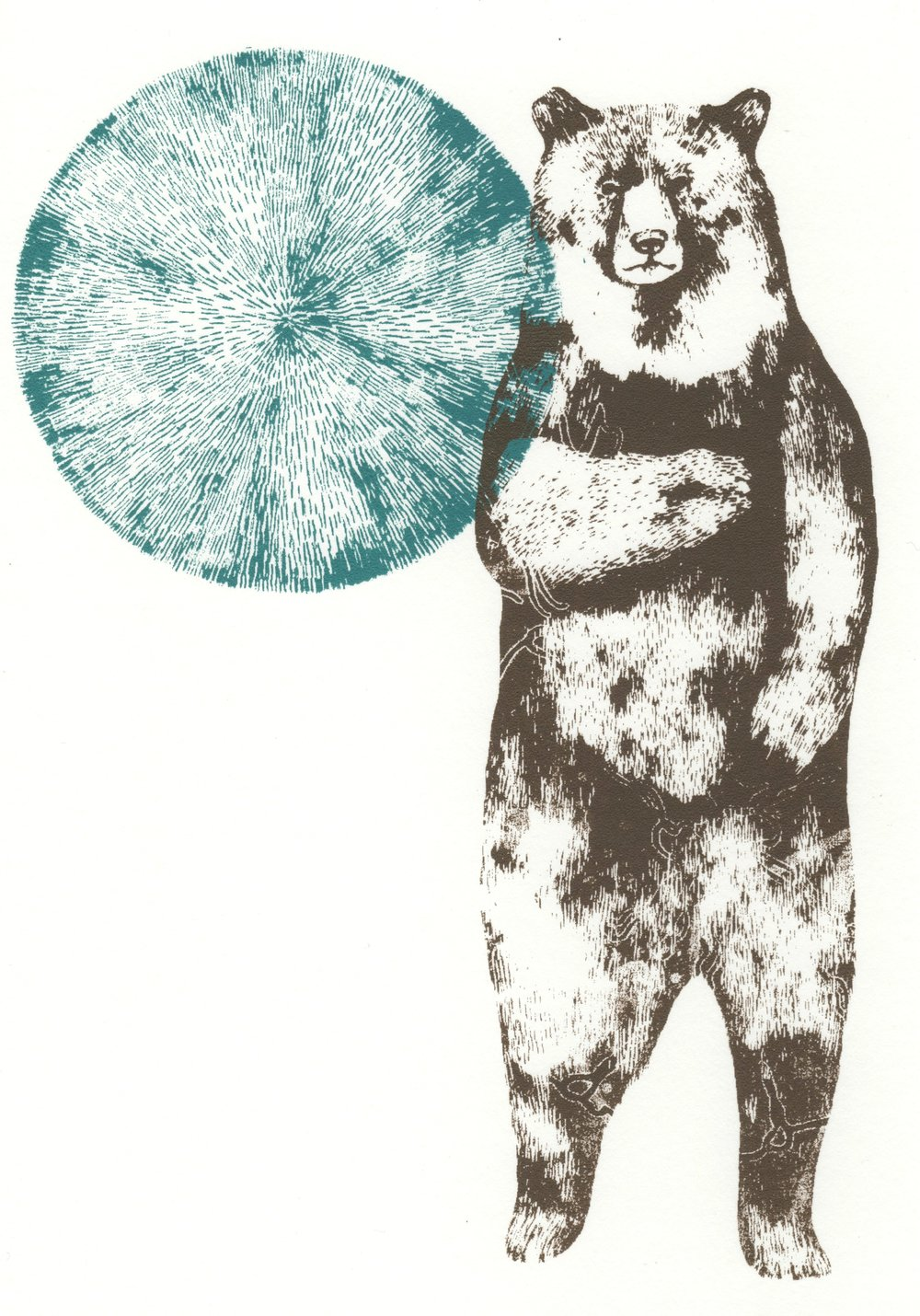 Brave Bear   screenprint    15cm x 21cm    £20 (unframed)