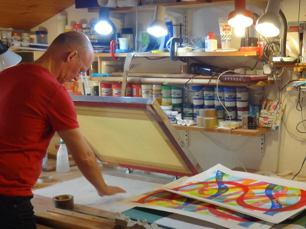 Paul Edwards in his studio