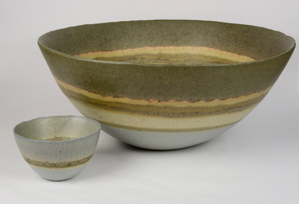 Charlotte Jones  Shore Lines Bowls  Large: £495, Small: £60  ceramic