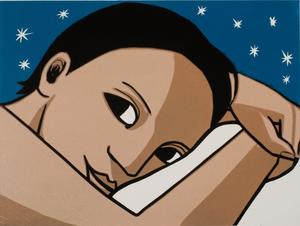 Anita Klein  Before Sleep   linocut   £475  30cm x 40cm