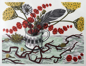 Angie Lewin The Twisted Stem linocut 46 x 37 cm £295