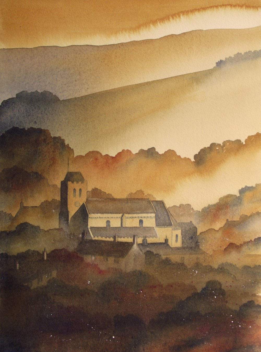 Lastingham watercolour SOLD