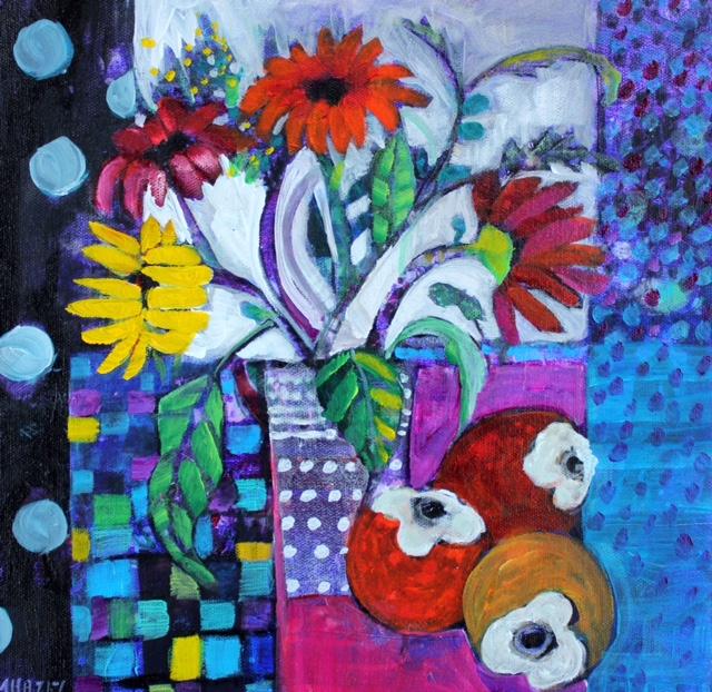 Big daisies  Acrylic on box canvas  30x30cm  £359 unframed