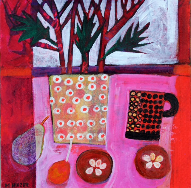 One mug Acrylic on box canvas 30x30cm 12x12ins