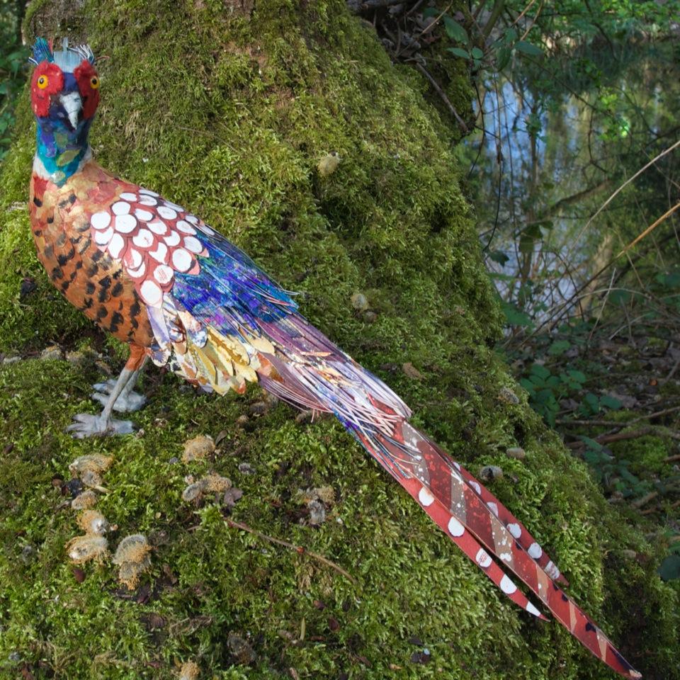 Pheasant mixed media 45 cm x 26 cm £300