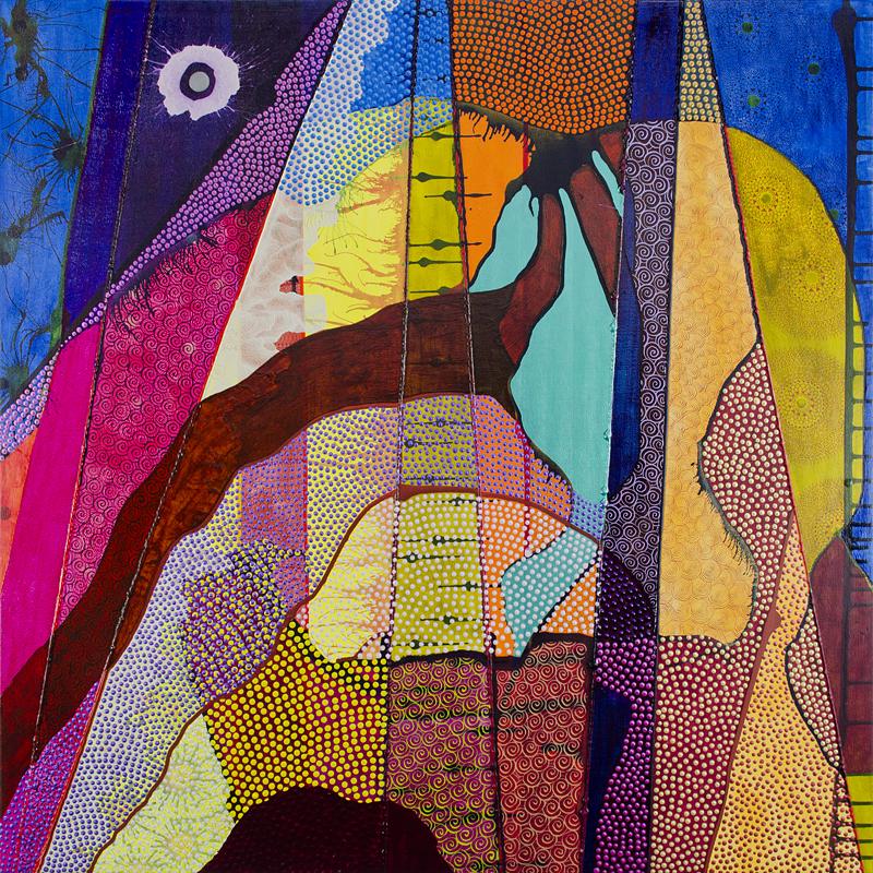 Chemin du Pieds des Monts acrylic 90 cm x 90 cm £2000