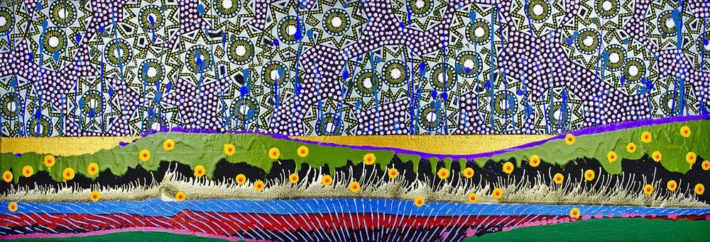 The Starry Night acrylic 30cm x 90 cm £700