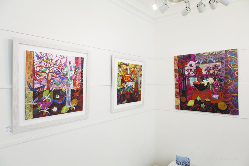 Moira Hazel  's work on display in the gallery  Photo by  Zuza Grubecka