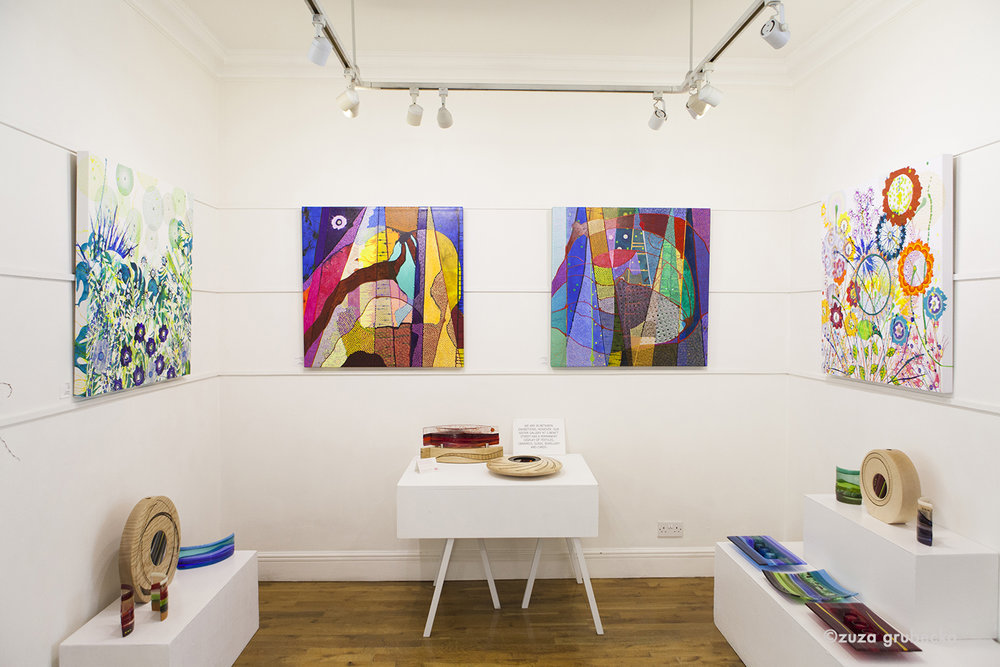 Dan Bennett  's work on display in the gallery  Photo by  Zuza Grubecka