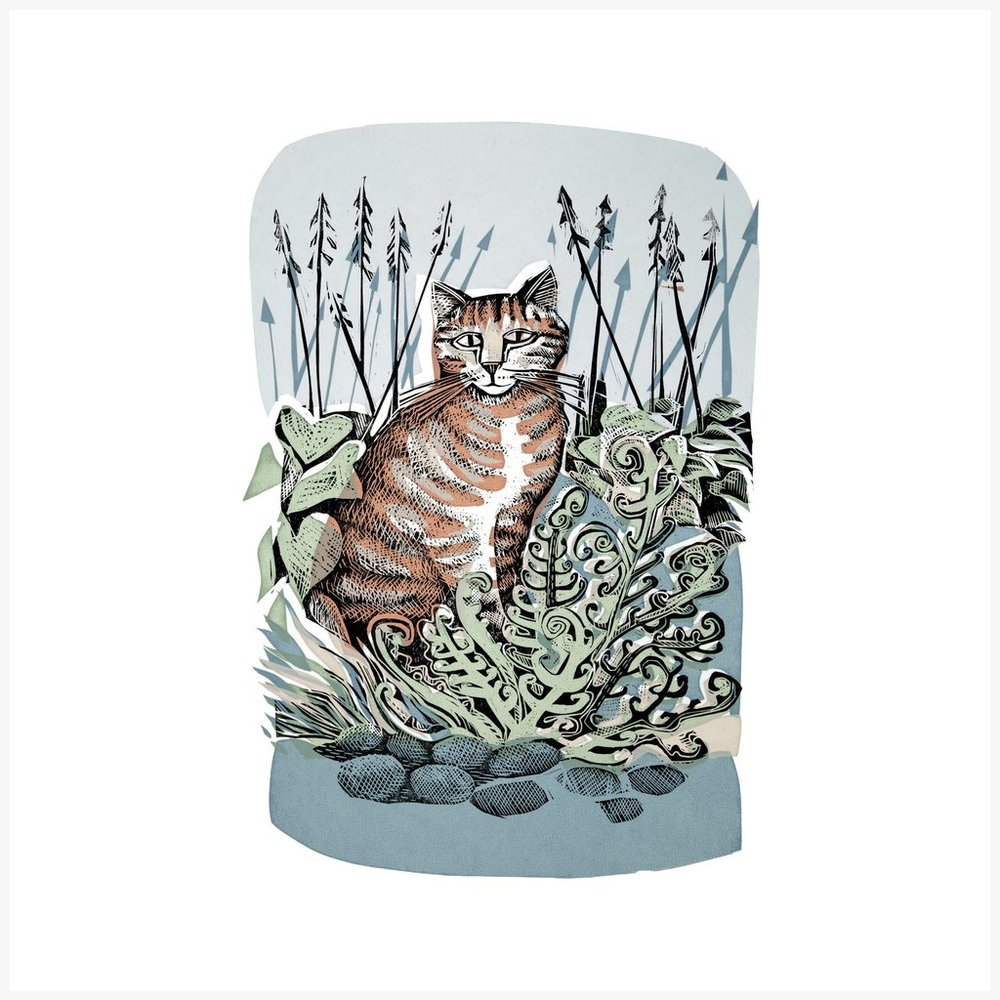 Angela Harding   Ginger Cat and Fern