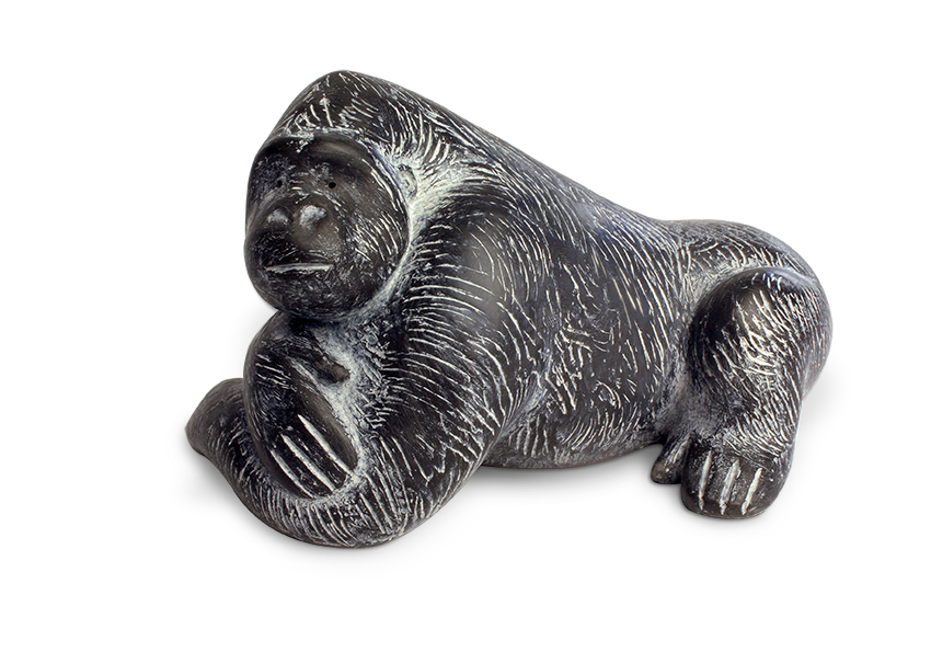 Gorilla reclining resin 9 x 14.5cm     £265