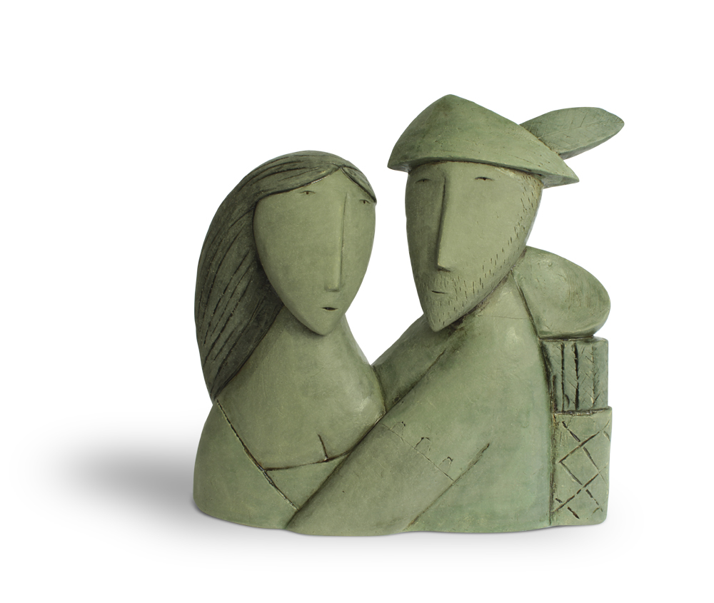 Robin and Marian  hand built clay  £550