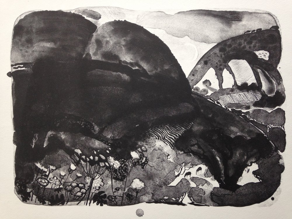 Dark Hills  Lithograph  33 x 40 cm  £290 (Framed)  £220 (Unframed)