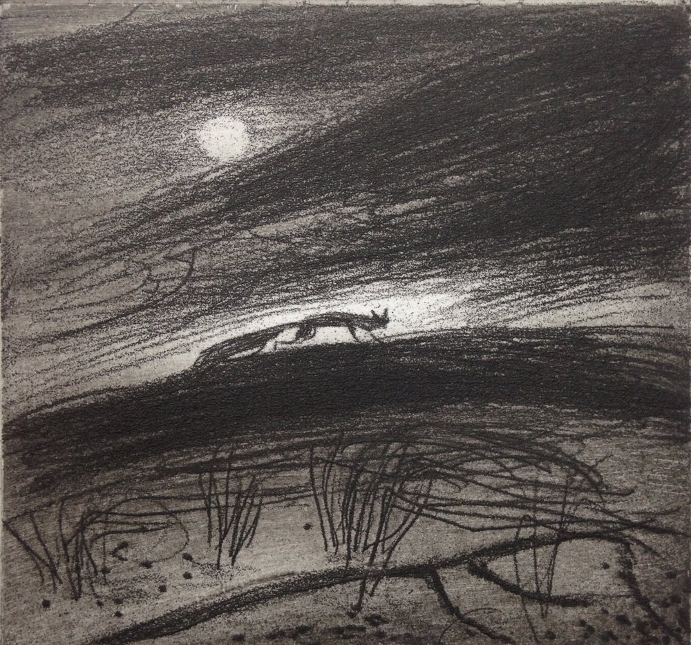 On the Hill   Etching   10 x 9 cm   £65 (unframed)