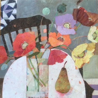 Last of the Autumn Flowers  61cm x 61cm  SOLD