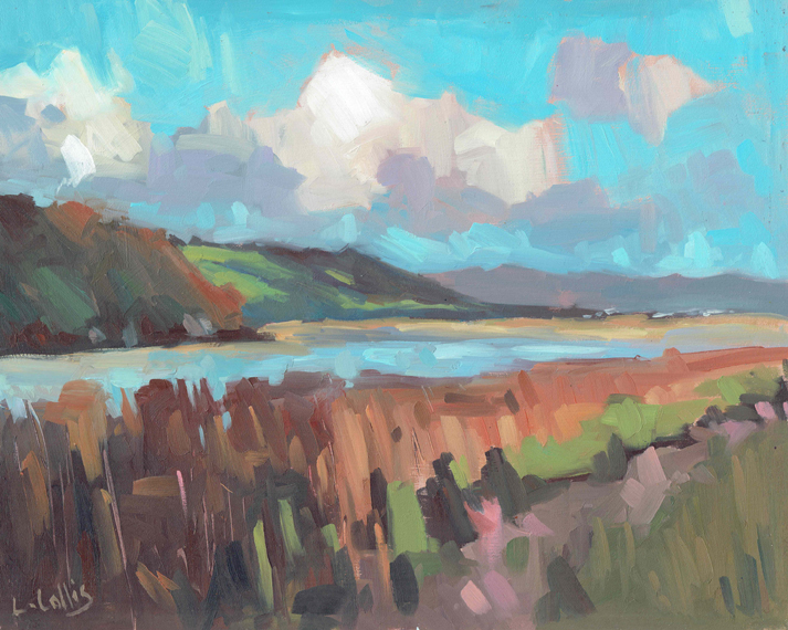 Laugharne Estuary  oil on board  25cm X 20cm  £295