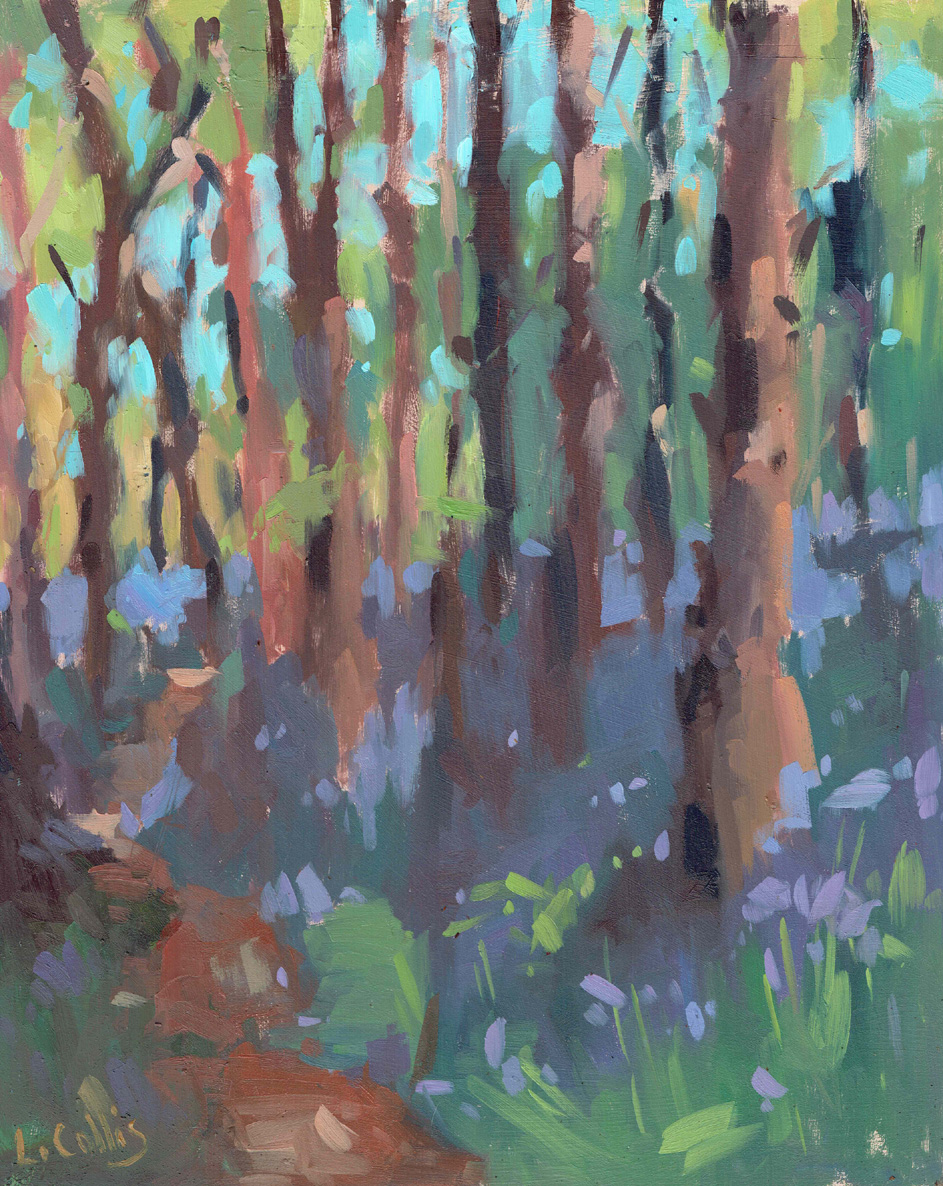 Path Through Bluebells  oil on board  25cm X 20cm  £295