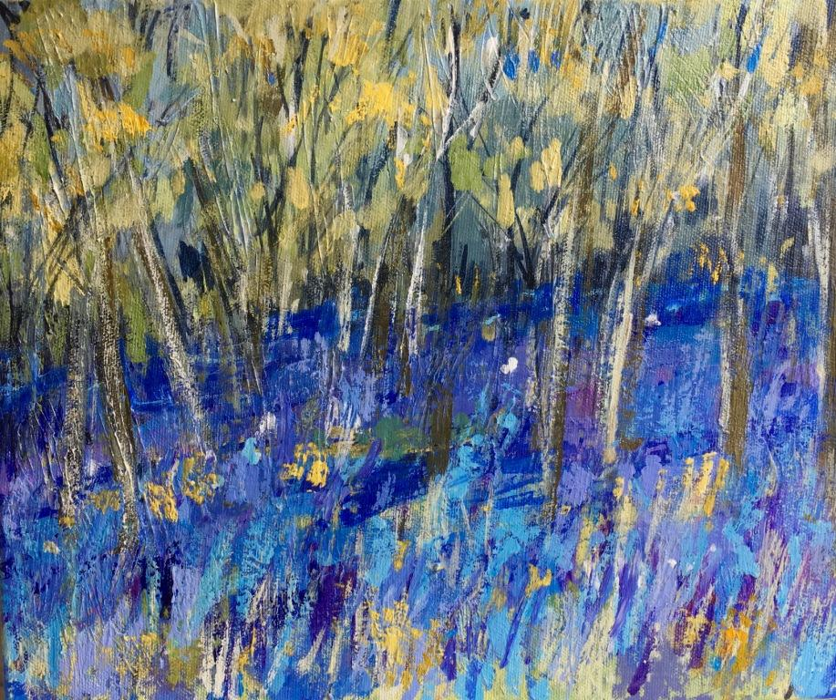 Bluebell Woods mixed media 61.5 x 56.5 cm