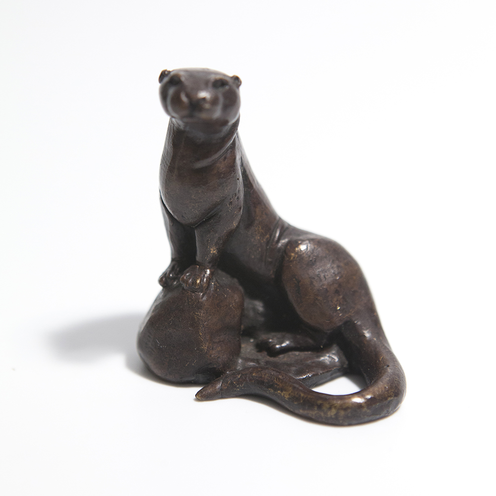 Otter Sitting Up  bronze  £75