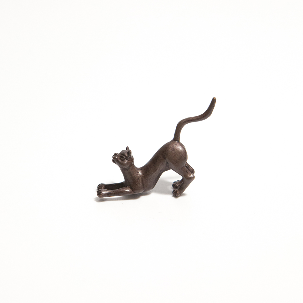 Bonsai Crouching Cat  bronze  £17