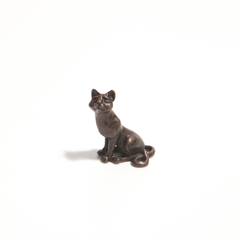 Bonsai Sitting Cat  bronze  £17