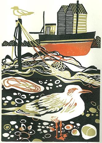 Gulls  linocut  £90 (unframed)