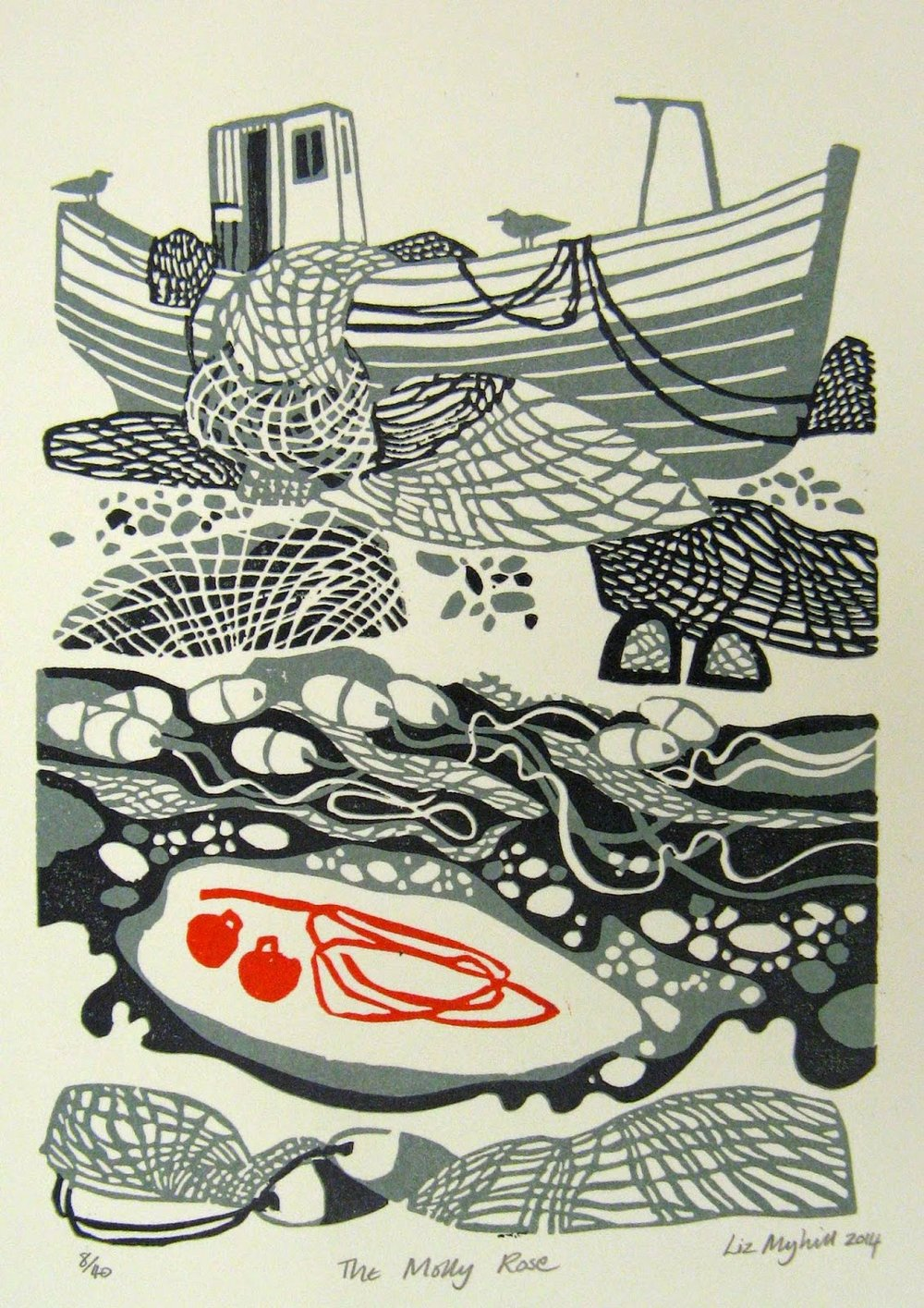 The Molly Rose  linocut  £90 (unframed)