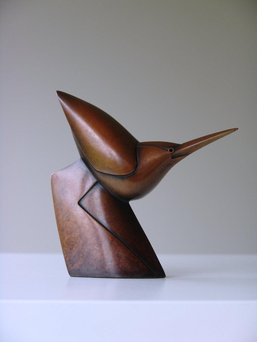 Little Walking Heron  bronze  13 x 13 x 4cm  £1500