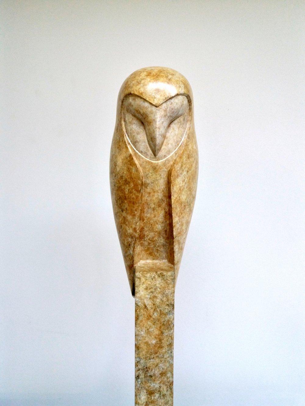 Sleeping Barn Owl  bronze  54 x 12 x 12cm  £5500