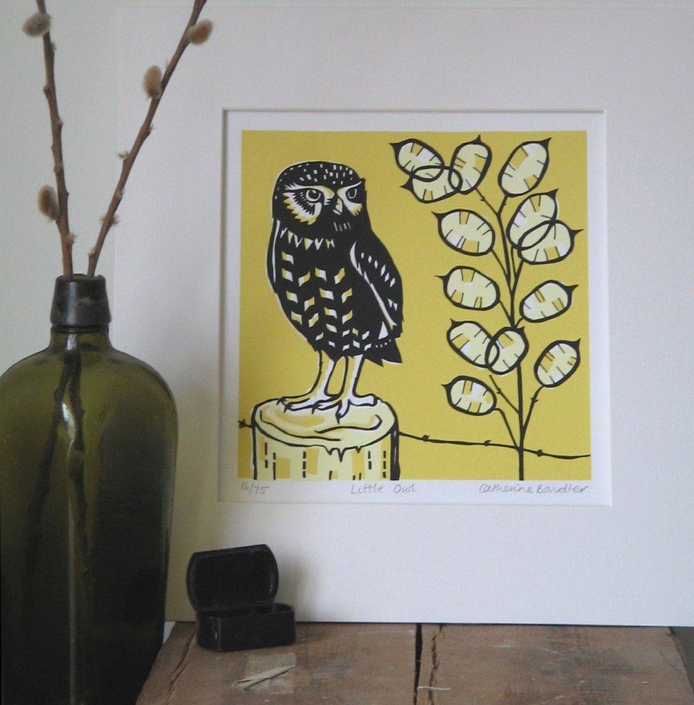 Little Owl   screenprint