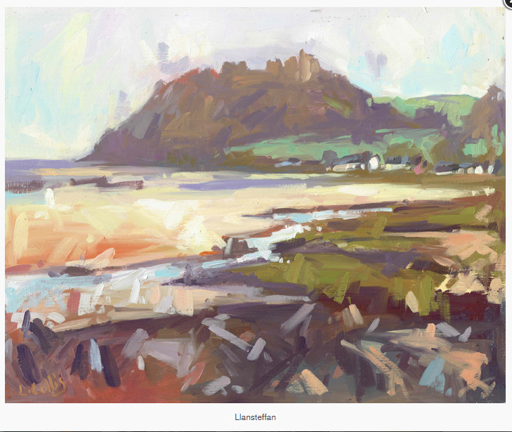 Llansteffan    oil on board  20cm x 25cm  £295