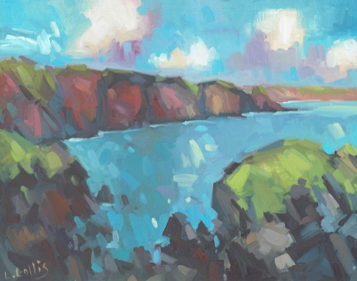 Stackpole Quay  oil on board  20cm x 25cm  £295