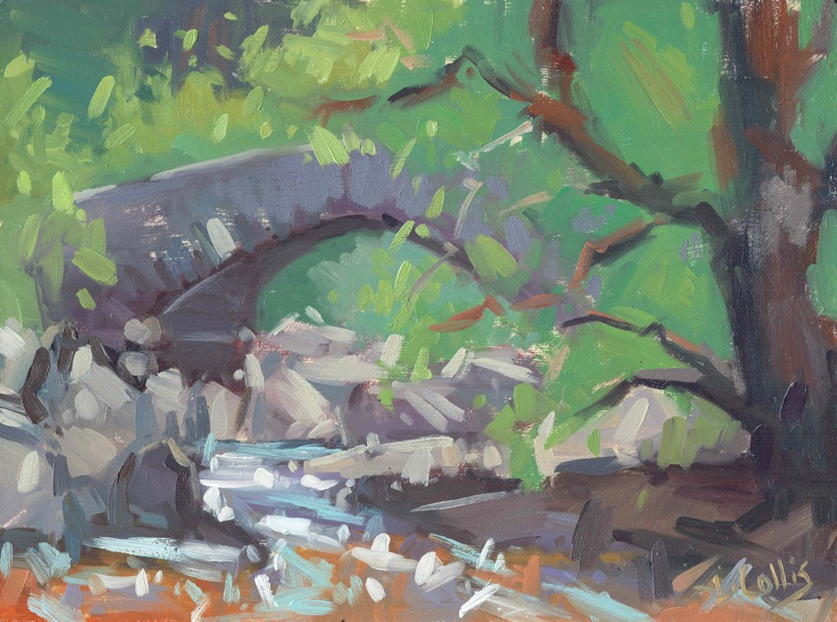Penbont Bridge Elan Valley  oil on board  21cm X 17cm image size  35cm X 30cm frame size  £195