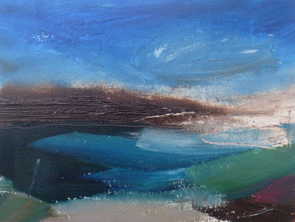 Sand and Deep Water Shadows  Oil  13 x 18 x 0.1 cm  £175
