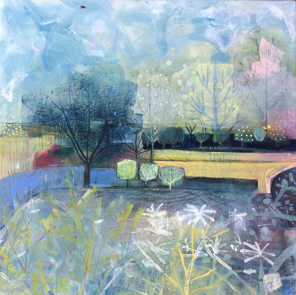 View from the Magnolia  acrylic on canvas board  49 x 49 cm  sold