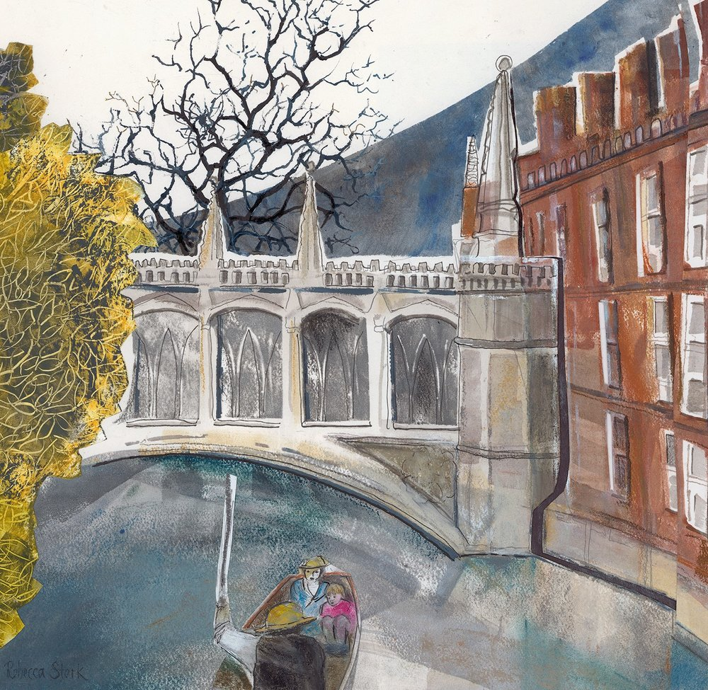 Bridge of Sighs  mixed media  56 x 56cm  £600 framed